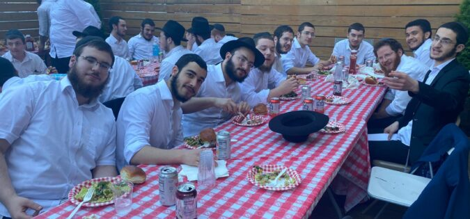 Friendship Circle Boy Volunteers End Year with BBQ