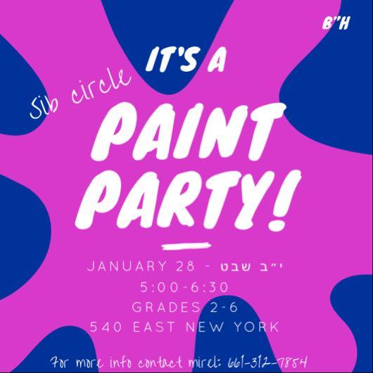 Girls Sib Circle – Paint Party!