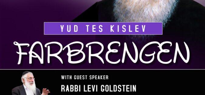 Yud Tes Kislev Farbrengen 5781
