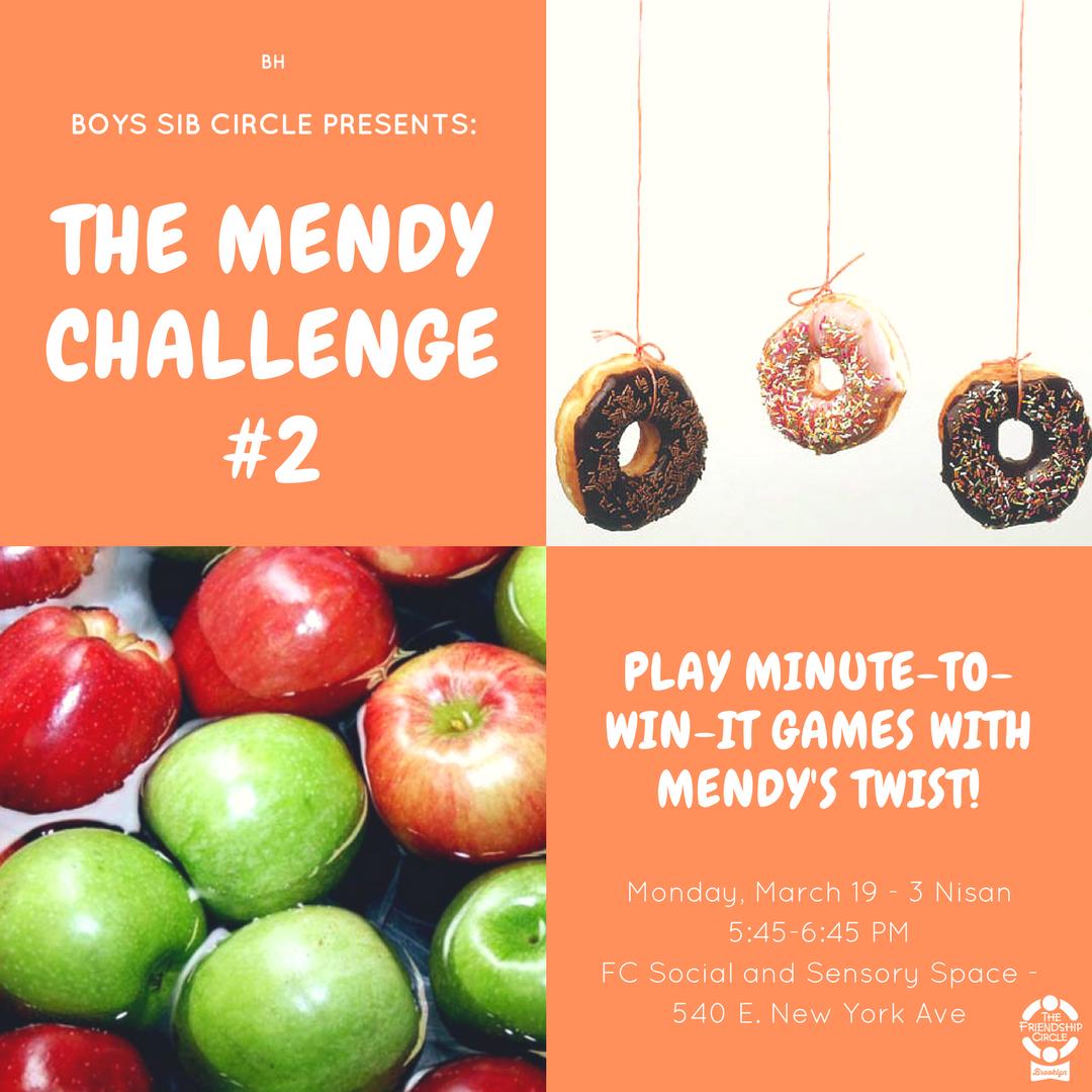 Boys Sib Circle – The Mendy Challenge!