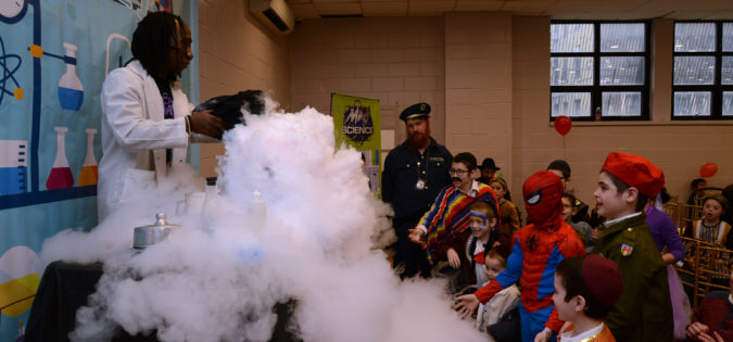 Mad Science Purim Fun at Friendship Circle: Purim in the Lab