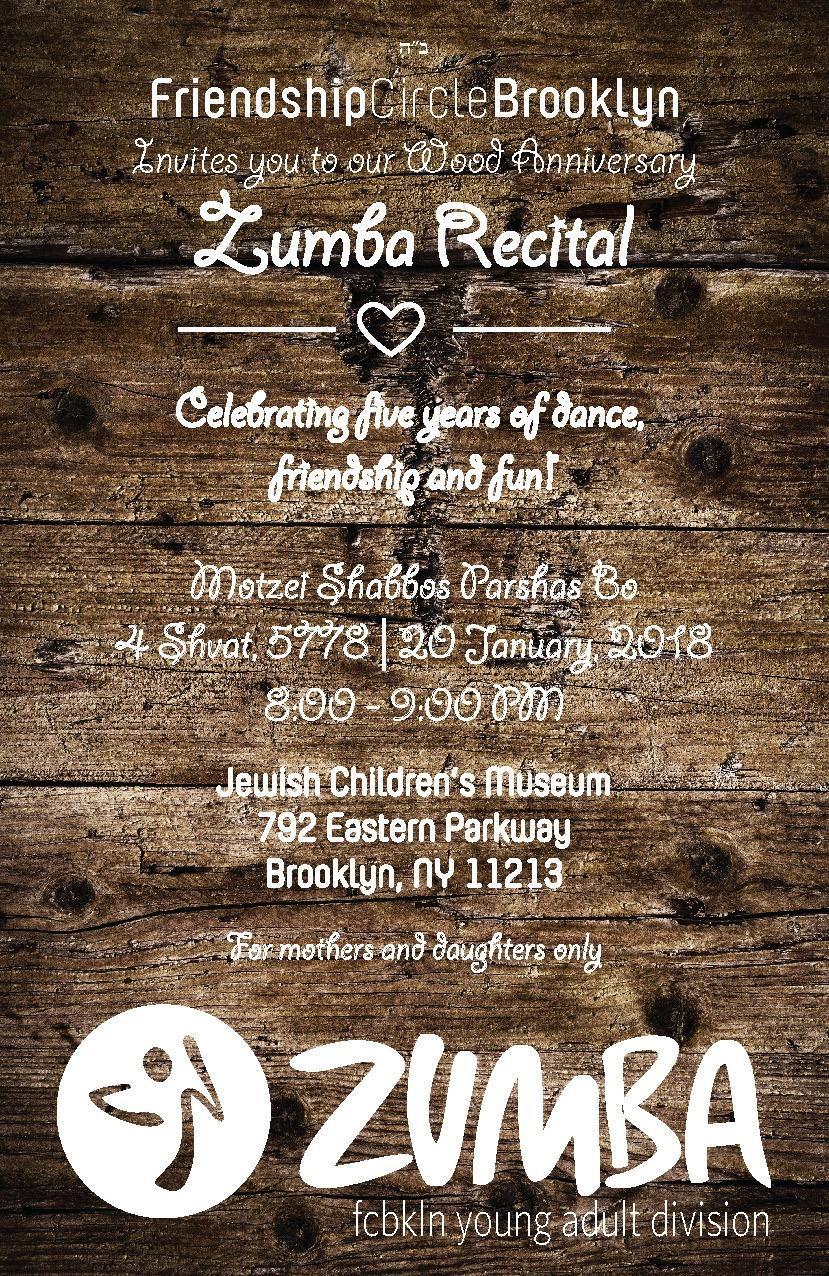 Zumba Recital Invitation Friendship Circle Of Brooklyn